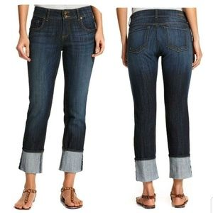 Kut from the Kloth Cuffed Straight Leg Jeans 2